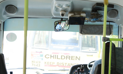 Buses equipped with CCTV and GPS System