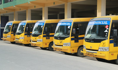 A fleet of comfortable vehicles